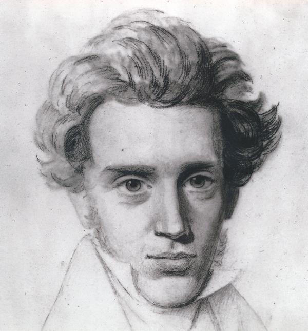 Danish author and philosopher Søren Kierkegaard (Photo courtesy of SK Books - Søren Kierkegaard Kulturproduktion)