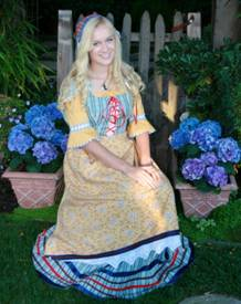 Meet the 2013 Danish Maid Emma Andersen (Photo courtesy of the Solvang Danish Days Foundation)