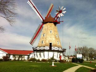 The Danish Windmill in Elk Horn, Iowa (Photo by Linda Steffensen, The Danish Pioneer Newspaper's Editor)