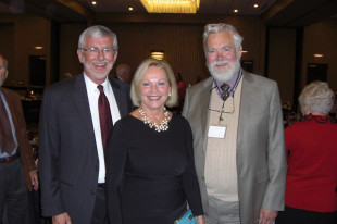 Pictured, left to right, Dr. John Mark Nielsen, President of the Danish American Heritage Society, Ambassador Laurie S. Fulton (Retired) & Egon Bodtker, Past President of the DAHS. (Photo courtesy of The Danish Pioneer Newspaper)