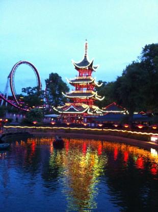 Dazzling Tivoli Gardens in Copenhagen, Denmark. (Photo courtesy of The Danish Pioneer Newspaper)