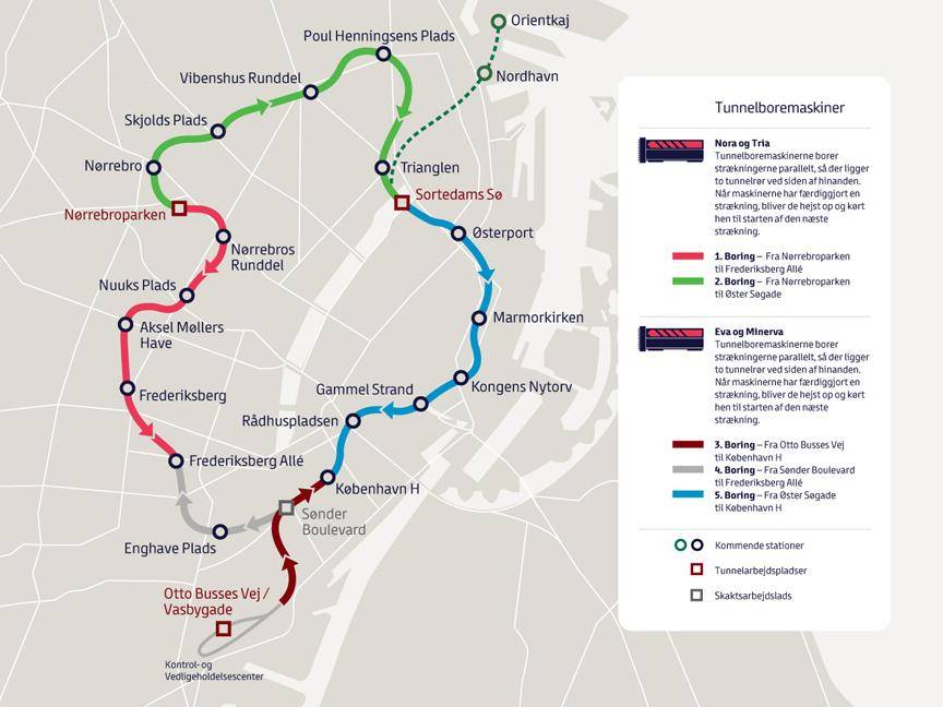 Work advances on Copenhagens Cityringen expected to open in 2018