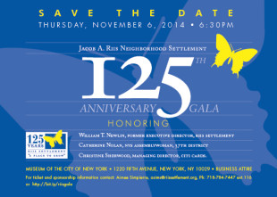 Come celebrate the 125th Anniversary of the Jacob A. Riis Neighborhood Settlement (Photo courtesy Riis Settlement)