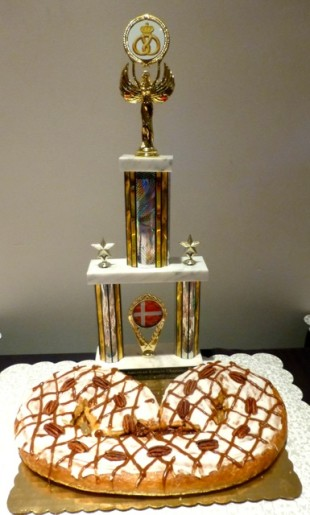 The North American Kringle Champion 2014 came from Uncle Mike's Bake Shoppe in Wisconsin. (Photo courtesy of Carol Schroeder)