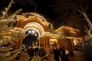 Christmas comes to Tivoli in Copenhagen, Denmark. (CLICK TO ENLARGE IMAGE - Photo courtesy of Tivoli)