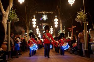 The Tivoli Boys Guard at Christmas in Tivoli in Copenhagen, Denmark. (Photo courtesy of Tivoli)