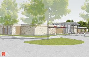 PROPOSED NEW HOME: The drawing by The Clark Enersen Partners of the proposed Blair Public Library with space for the Danish American Archive and Library (DAAL) in Blair, Nebraska. (CLICK TO ENLARGE IMAGE - Photo courtesy of DAAL)