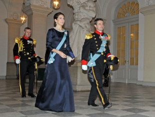 Crown Princess Mary and Crown Prince Frederik of Denmark at the New Year's Reception for the Diplomatic Corps on January 6, 2015 in Copenhagen. (File Photo courtesy of Hasse Ferrold, The Danish Pioneer Newspaper's Staff Photographer)