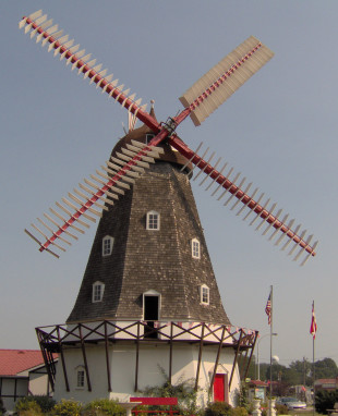 The Danish Windmill is located in Elk Horn, Iowa. (Photo courtesy of the Danish Windmill Corporation)