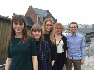 FROM LEFT TO RIGHT:  Multidisciplinary Australian Danish Exchange (MADE) students Birthe Wohlenberg, Arnthrudur Gisladottir, Mai Alexandra Bogoe, Signe Moeller Rosendal, Mathias Oerumnoergaard. (Photo courtesy of MADE by the Opera House)