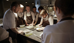 René Redzepi and his staff in NOMA: MY PERFECT STORM, a Magnolia Pictures release. (Photo courtesy of Magnolia Pictures. Photo credit: Pierre Deschamps)
