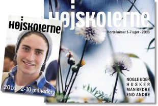 CLICK TO ENLARGE IMAGE: Check out the many interesting courses in the 2016 Danish Folk High School Catalog. (Photo courtesy of Folkehoejskolernes Forening i Danmark)